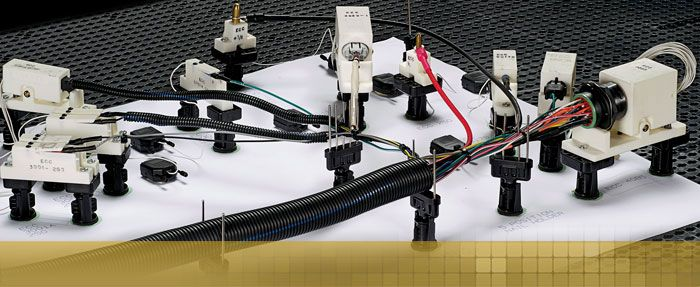 Wiring Harness Making Supplies : Panduit harness board system and fixture